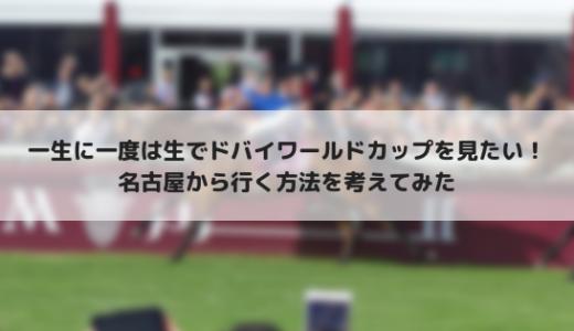 ドバイワールドCを生で見たい!名古屋からドバイに行く方法を調べてみた