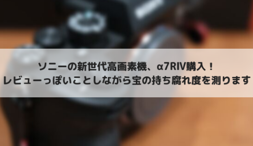ソニーα7RⅣレビュー!6100万画素センサーを搭載した高画素ミラーレスカメラ