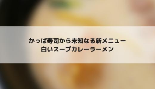 かっぱ寿司の白いスープカレーラーメンは結構なスープカレーだった